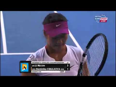 Li Na Vs Dominika Cibulkova Australian Open 2014 Women's Final Part 1