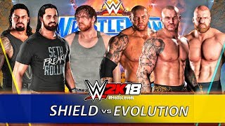 WWE 2K18 The Shield vs The Evolution ft. SHIELD OMG Move w/ New Hot Tag Feature WWE 2K18 PS4
