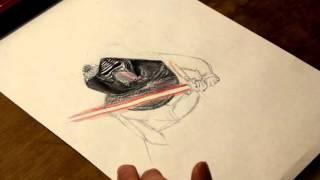 Kylo Ren (Time-lapse Drawing)