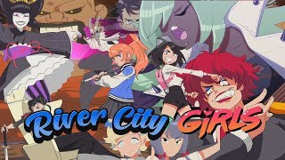 River City Girls : All Boss Intros And Story Manga Cutscenes ( Plus Full Length Intro Song !)
