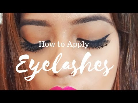 How To Apply Eyelashes | Debasree Banerjee