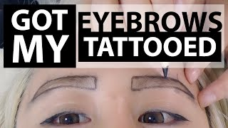 Eyebrow Tattoo Before and After ♥ Everything you need to know 3D Korean Eyebrow Tattoo Temporary