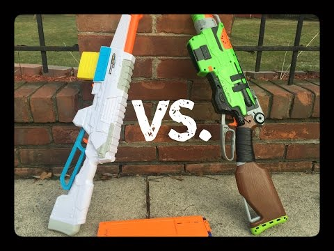 Nerf Slingfire Vs. Buzz Bee Sentinel (Battle for Best Lever Action)
