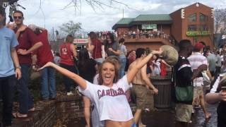 Crazy scenes from Five Points afrer South Carolina basketball advances to the final 4