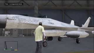 GTA 5 HOW TO GET THE MILITARY FIGHTER JET IN YOUR HANGER  EXCLUSIVE   UNSEEN  RARE