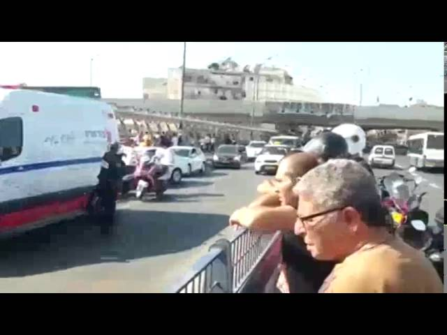 זירת הפיגוע בתל אביב