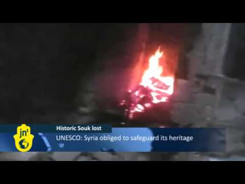 Aleppo's Ancient Souk in Syria Destroyed: UNESCO World Heritage Site Burned in Fighting