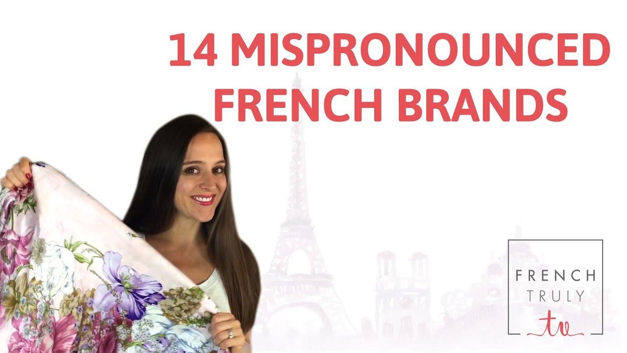 Pronunciation of fashion brands 8