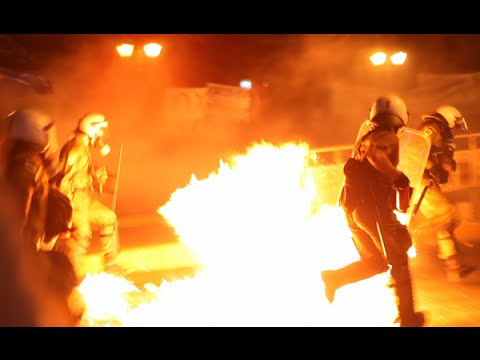 Athens Warzone ~ Front line view of the July 15 Riot against new Austerity measures