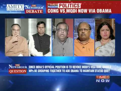 The Newshour Debate: Congress vs Modi now via Obama (Full Debate)