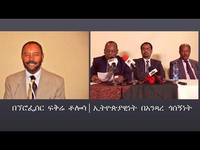 Ethiopia: Professor Fikre Tolosa About Ethiopia And Ethnicity