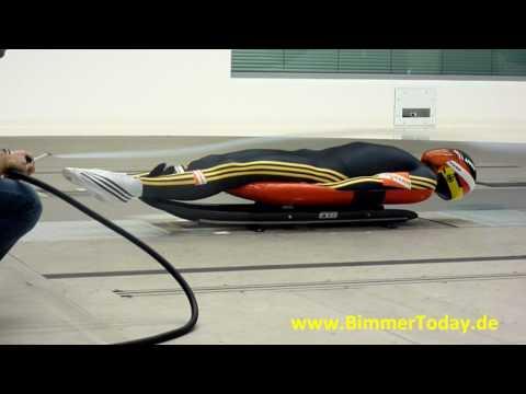 Olympiasieger Felix Loch im Windkanal der BMW Group