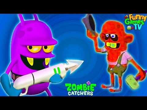 Zombie Catchers #4 Игровой мультик про зомби апокалипсис Охотники или Ловцы Зомби видео для малышей