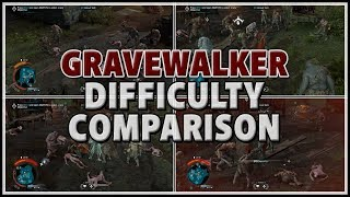[Shadow of War] INSANELY HARD! - Gravewalker Difficulty Comparison