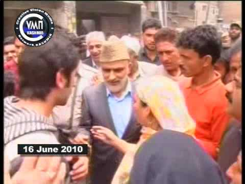 Cvmnkashmir News 16 June 2010  Ali Mohd Sagar Visits Downtown Srinagar video