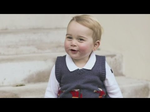 Prince George's cute new holiday photos