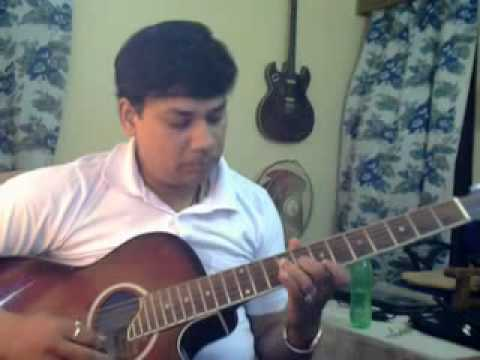 Yadon ki barat on Guitar