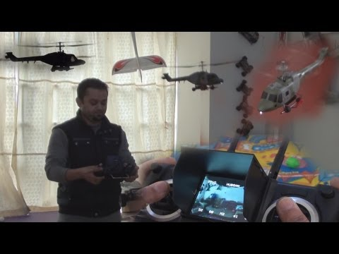 Lynx RC Helicopter with Built in FPV System Indoor flight