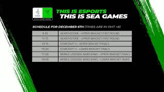 LIVE NOW Esports at the SEA Games, Philippines 2019 Day 2 December 6