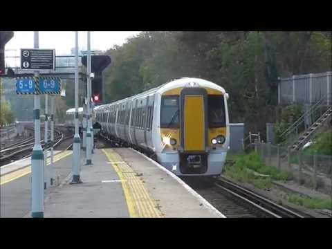 The new Govia Thameslink Class 387s units 105 and 106 are seen passing Preston Park working the Bletchley C.S. to Brighton with identity 5B89/588S. Then afte...