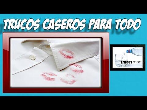 Como quitar lapiz labial de la ropa