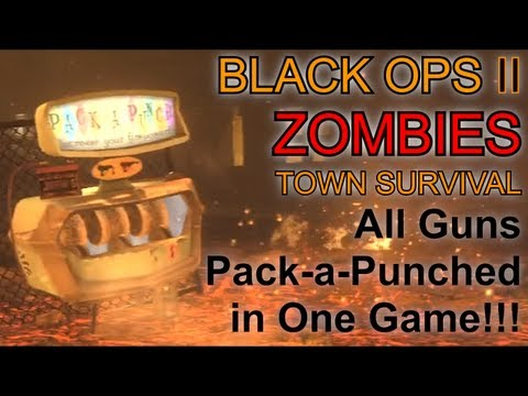 All Guns Pack a Punched in One Game   Black Ops 2 Zombies Challenge Game