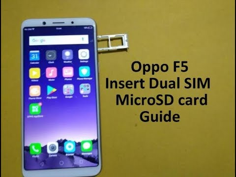 Oppo F5 : How to Insert Dual SIM card and micro SD card
