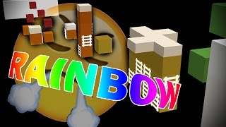 RAINBOW RAGE (Minecraft Rainbow Rush Parkour)