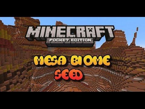Mesa Biomes Minecraft pe Biome Seed Minecraft pe