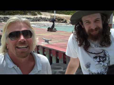 Sir Richard Branson and Tellman Knudson