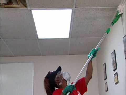 Ceiling Pro Cleaning Process 3 Steps Youtube
