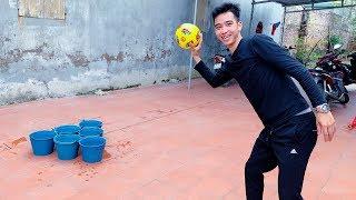 PHD | Thi Ném Bóng Và Hình Phạt Úp Bánh Kem Vào Mặt | Challenge Throwing Ball