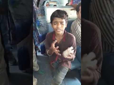 Bhigi bhigi sadko pe me in train By talented boy