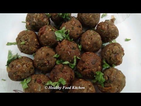 Mushroom Kola Urundai - Fried Mushroom Ball -Kola Urundai Recipe By Healthy Food Kitchen