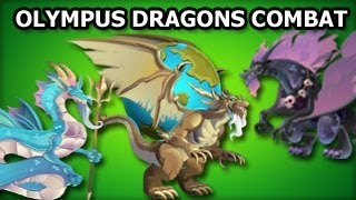 Olympus Dragons Combat Poseidon Hades and Atlas Dragons In Action