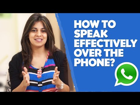 How to speak effectively over the phone? - English lesson - Telephone skills