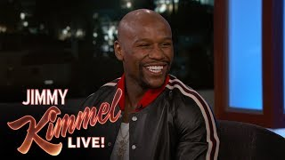 Jimmy Kimmel & Floyd Mayweather Analyze Fight Prop Bets