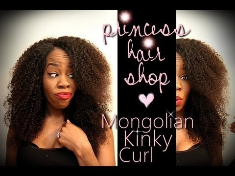Another Damn Wig Tutorial (lol) ♥ Princess Hair Shop Mongolian Kinky Curly