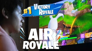 KID WINS A GAME ON FORTNITE (AIR ROYALE)