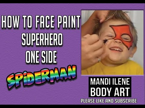 Face Paint Easy Spiderman by Mandi Ilene (changed audio)