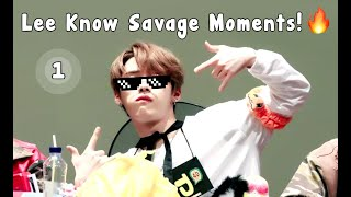 Stray Kids - LeeKnow savage moments 1