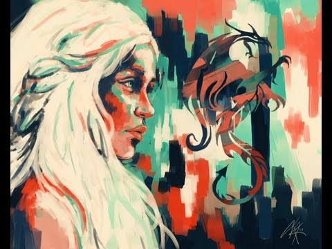 Game of Thrones - Daenerys Speed Painting