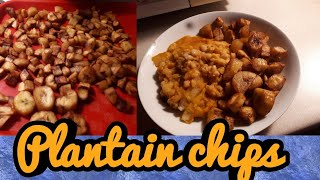 Watch How I prepare my Ripe plantain chips.