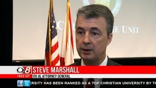 CBS 8 News Report on Launch of Cybercrime Lab by Attorney General Steve Marshall