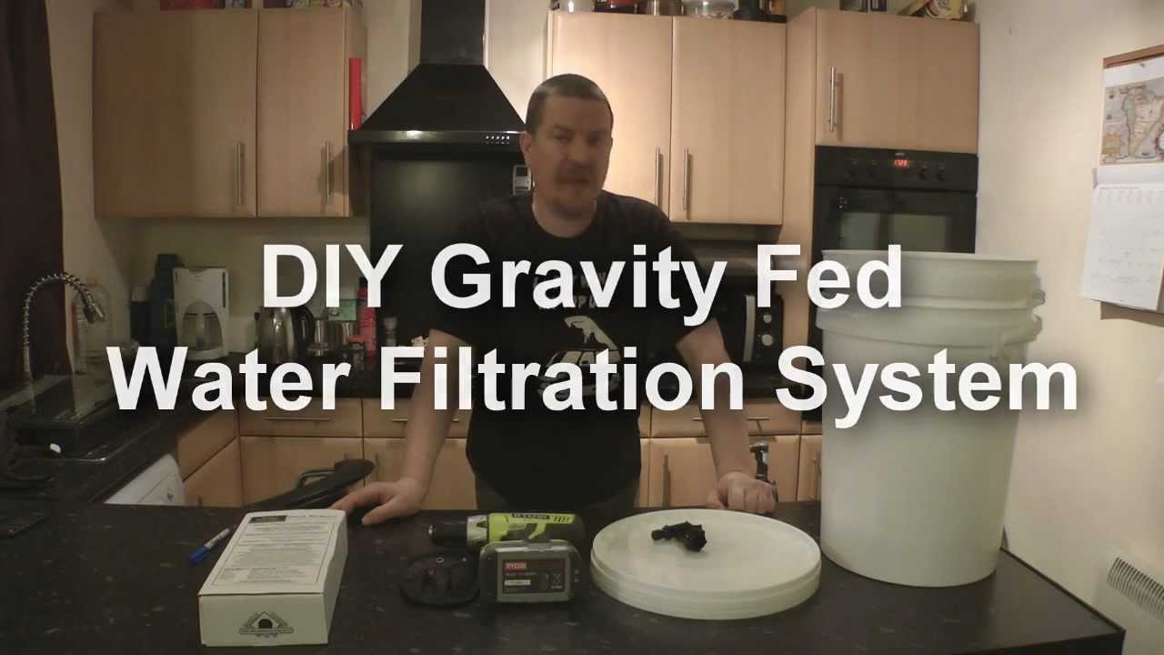 Diy gravity fed water filter youtube for Gravity fed pond