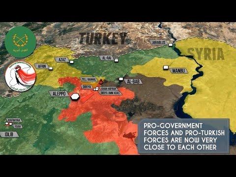 24 января 2017. Военная обстановка в Сирии. ИГИЛ подбили танк Т-90. Русский перевод.