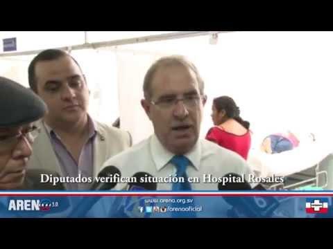 Diputados verifican situación en Hospital Rosales