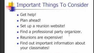 Class Reunion Ideas