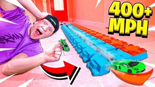 WORLD'S FASTEST HOT WHEELS TRACK! (400+ MPH)