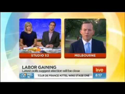 Andrew O'Keefe from Sunrise grills Tony Abbott on Climate Change and Carbon Pricing